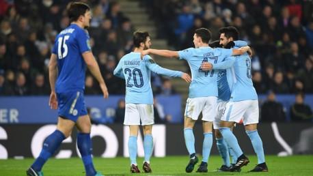 BERNARDO BRILLIANCE: City's goalscorer celebrates his second goal of the season.