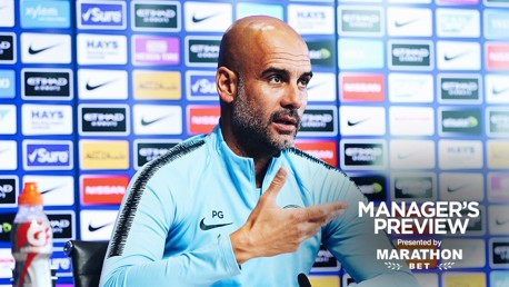 PEP TALK: The manager addressed the media ahead of Monday's trip to Spurs
