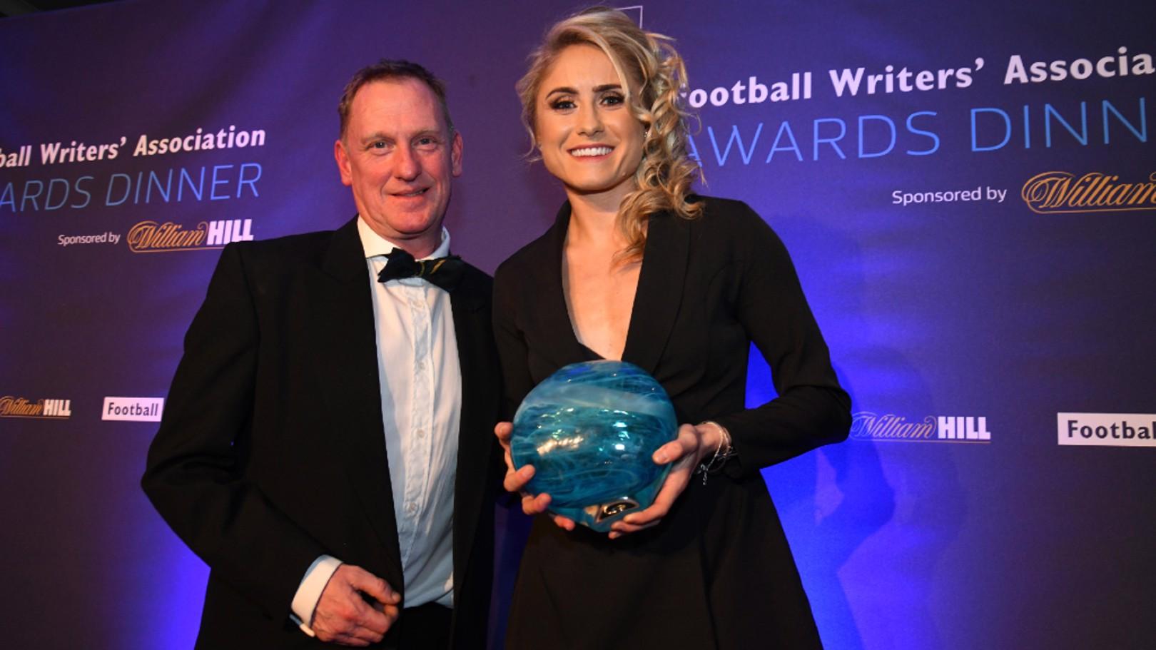 Houghton receives Football Writers' Association Award
