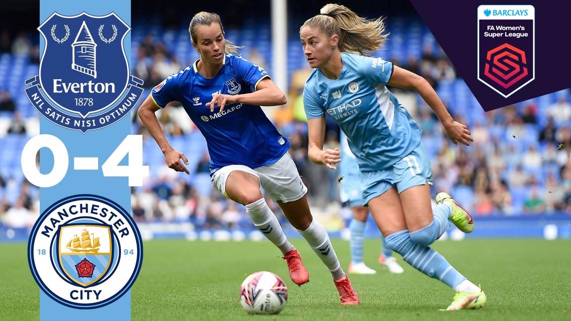 Everton 0-4 City: Cuplikan Liga Super Wanita FA