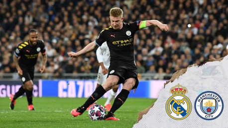 SPOT ON: Kevin De Bruyne fires home from the spot for City