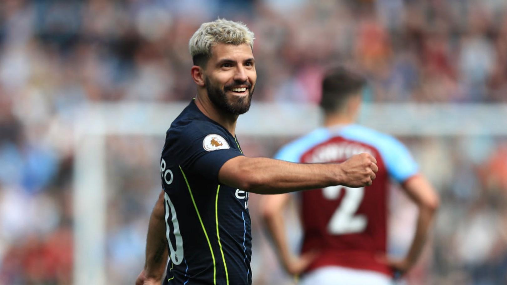 WINNING: That goal scoring smile.