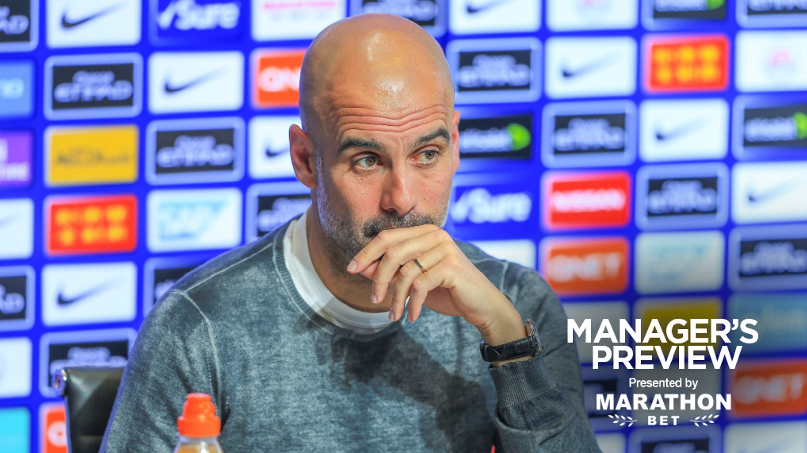 PRE-MATCH: Pep Guardiola addresses the media ahead of the final game of the season.